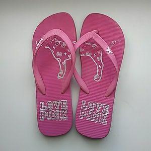 VS PINK flip flops! Really cute!